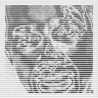 portrait PatBiker carré et bordure
