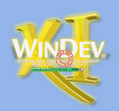Logo affiché au chargement de WinDev 11 préversion